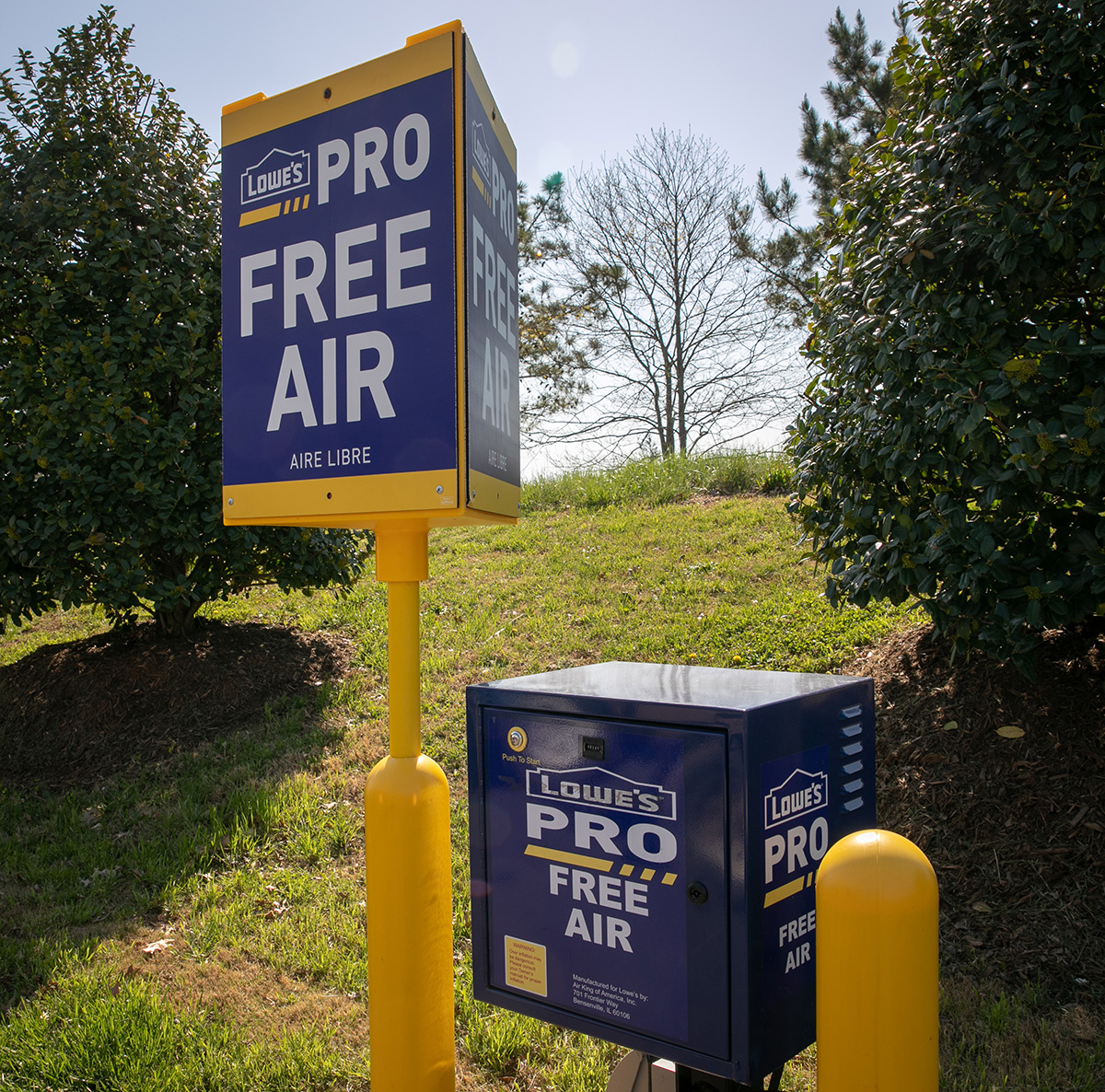 Lowe's Pros members will have access to air-filling stations for their tools and tires.