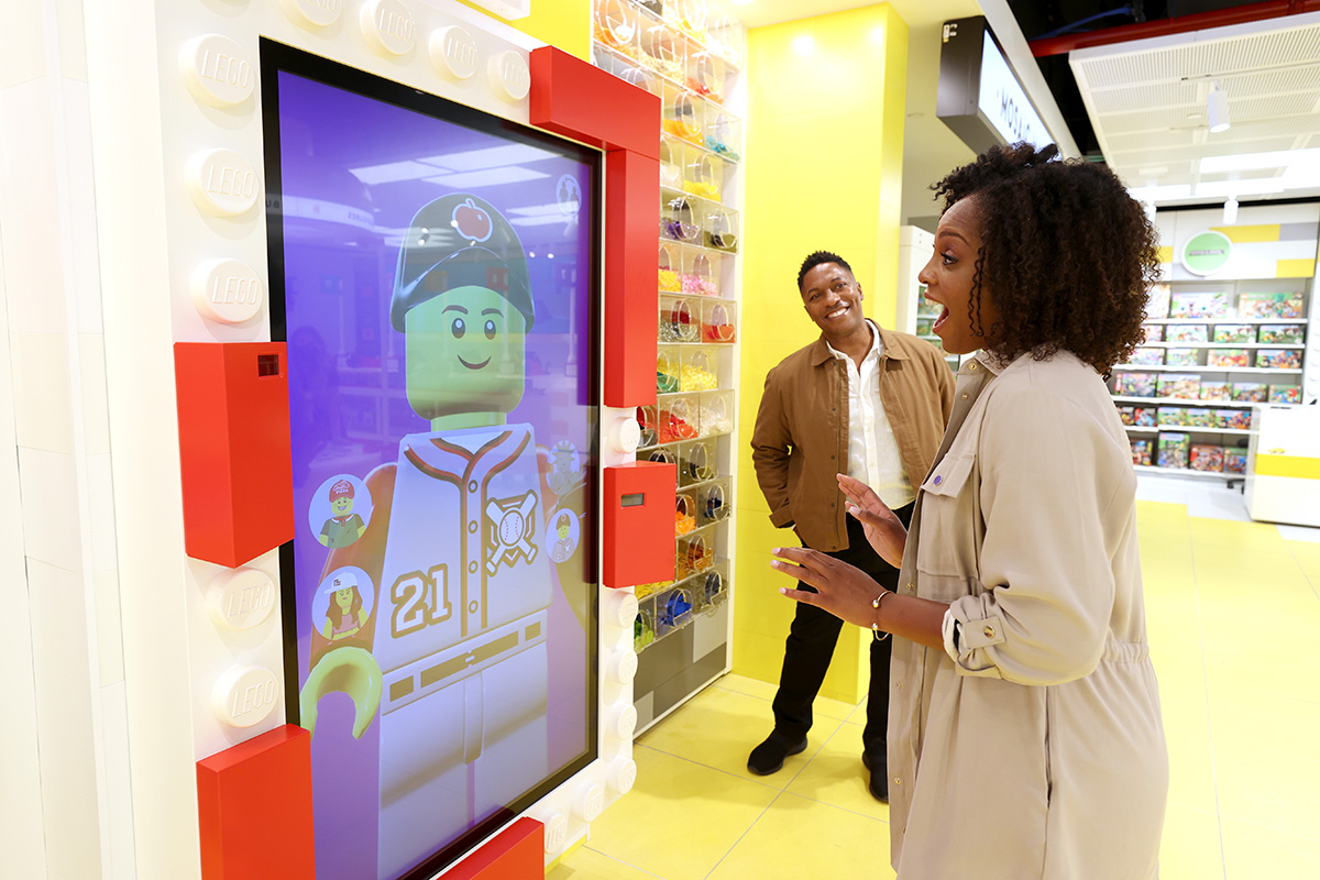 The LEGO Expressions feature will copy a consumer's actions and facial expressions.