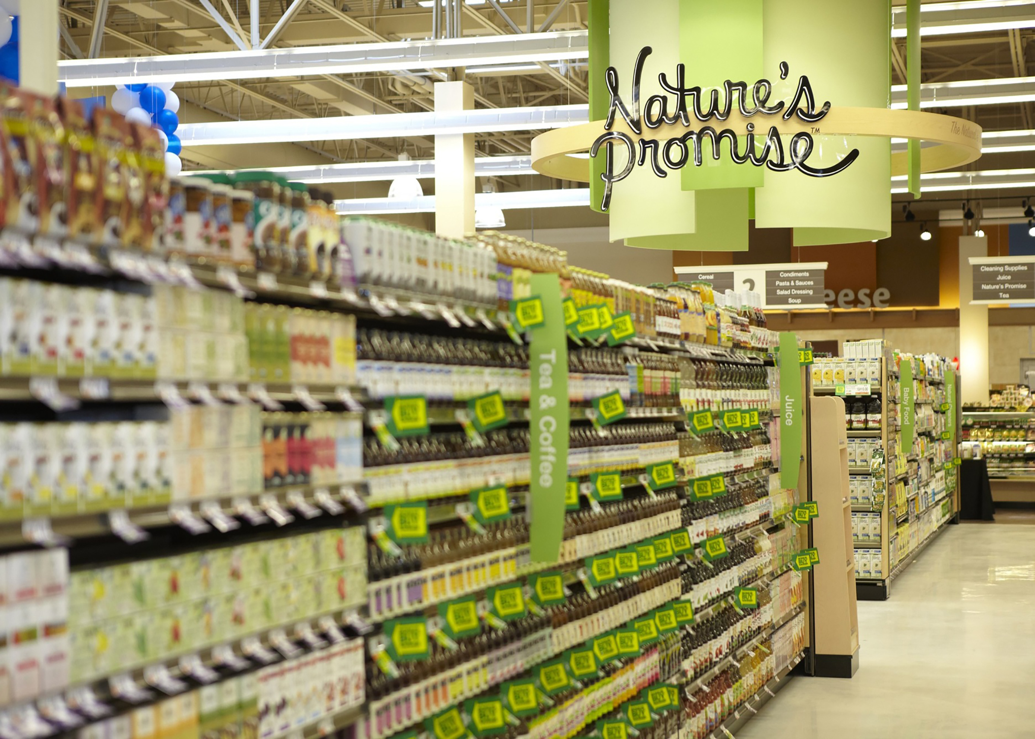 Nature's Promise shelves