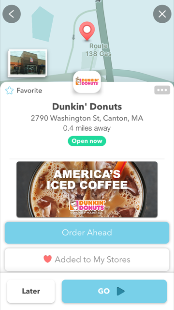 Dunkin' Donuts is the First Retailer to Launch Waze App's