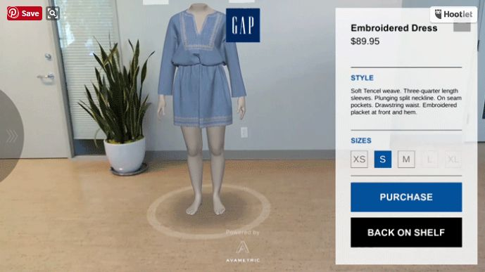 GAP augmented reality
