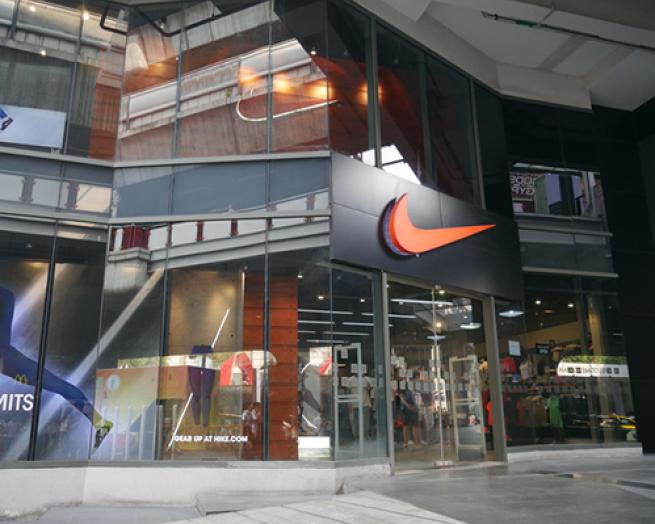 a store inside of a building