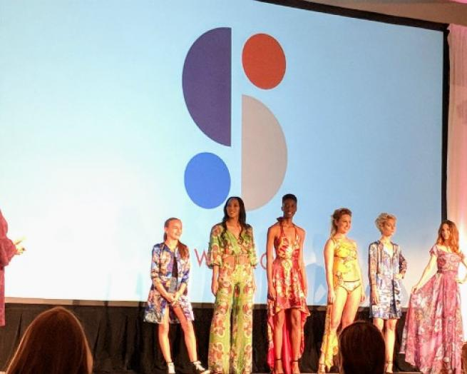 Apparel Under-30 Elite and fashion designer Ariel Swedroe presented select swimwear styles at the Gerber Ideation conference in November.